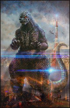 Godzilla Retina Movie Wallpaper iPhone iPad iPod Forums at Cool Monsters, Classic Monsters, Famous Monsters, Godzilla Wallpaper, Godzilla Tattoo, King Kong Vs Godzilla, Japanese Monster, Anime, Fantasy Art