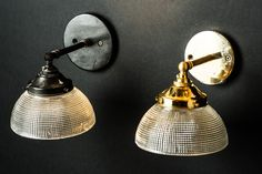 Vintage Holophane Glass Armed Wall Light — Felix Lighting Specialists | Vintage Industrial Lighting