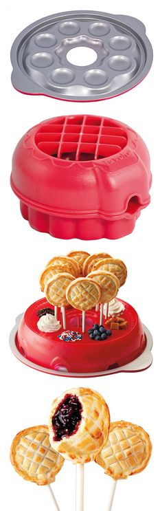 Pie pop maker mold set // fun! #baking #product_design