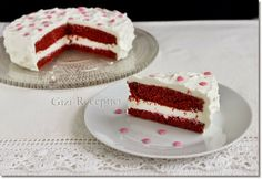 MaiKupon  : Vörös bársony torta mascarponekrémmeL Valentines Day Desserts, Hungarian Recipes, Vanilla Cake, Tiramisu, Cheesecake, Dessert Recipes, Cooking, Ethnic Recipes, Sweet