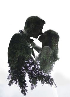 Double Exposure Portrait // Bride and Groom // Jarusha Brown Photography // GALIANO ISLAND ELOPEMENT, gulf island elopement, Vancouver elopement photographer, gulf island wedding photographer, Galiano Inn wedding, Galiano Island