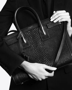 yves saint laurent baby sac de jour with python embossed details