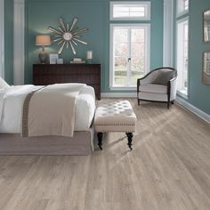 TrafficMASTER Taupe Oak 6 in. x 36 in. Peel and Stick Vinyl Plank (36 sq. ft. / case)-WD6841 - The Home Depot