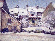 Wladimir Terlikowski Peintre de l'école de Murol Les remparts de Besse
