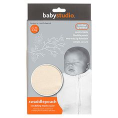 The Baby Studio swaddle pouch is a modern alternative to the traditional swaddle. ☑
