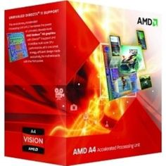 Amd Cpu Ad3300Ojgxbox Apu A4 3300 X2 2.5 Ghz Fm1 65W Retail by AMD. $67.38. Processor core: Llano.Manufacturing process: 0.032 micron.Die size: 228mm2.Data width: 64 bit.Number of cores: 2.Floating Point Unit: Integrated.Level 1 cache size: 2 x 64 KB 2-way associative instruction caches.2 x 64 KB 2-way associative data caches.Level 2 cache size: 2 x 512 KB 16-way associative cache.Thermal Design Power (W): 65.