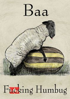 Baa F###ing Humbug ~ Politically Incorrect / Rude Christmas Card ~ Potty Mouth in Home, Furniture & DIY, Celebrations & Occasions, Cards & Stationery   eBay