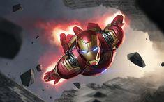 Iron Man (Mk Age of Ultron suit) Marvel Future Fight Hero Marvel, Marvel Comics, Iron Man Flying, Iron Man Photos, Spiderman, Marvel Future Fight, Graffiti, Art Blue, Iron Man Wallpaper