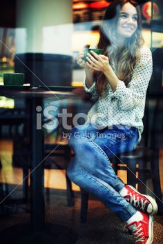 Young Woman with Tea Cap Royalty Free Stock Photo