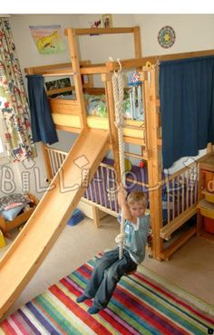 Deciding to Buy a Loft Space Bed (Bunk Beds). – Bunk Beds for Kids Bunk Bed With Slide, Bunk Beds With Stairs, Kids Bed With Slide, Bunk Beds Boys, Kid Beds, Cool Boy Beds, Boys Bedroom Ideas With Bunk Beds, Bunk Bed Fort, Kids Beds For Boys