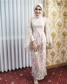 Inspired by Tesettür Şalvar Modelleri 2020 Hijab Prom Dress, Dress Brukat, Hijab Gown, Kebaya Hijab, Muslimah Wedding Dress, Hijab Evening Dress, Kebaya Dress, Dress Pesta, The Dress