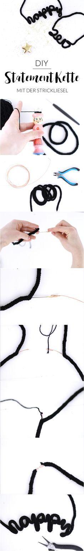 DIY Statement Kette mit der Strickliesel | Strickliesel Ideen | Silvester | New Years Eve | Schmuck selber machen