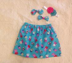 Peppa Pig Skirt, Toddler Skirt, Girls Skirt, Birthday Party Skirt, Skirt with Knot Bow, Elastic Waist Skirt, Susie Sheep Skirt by LilacAndMarigold on Etsy https://www.etsy.com/listing/476460174/peppa-pig-skirt-toddler-skirt-girls