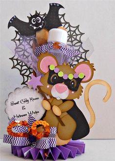ELITE4U Scrappinwmn Premade Scrapbook Halloween Treat Box Mouse Paper Piecing | eBay