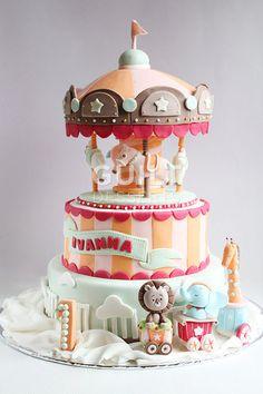 Circus Carousel Cake