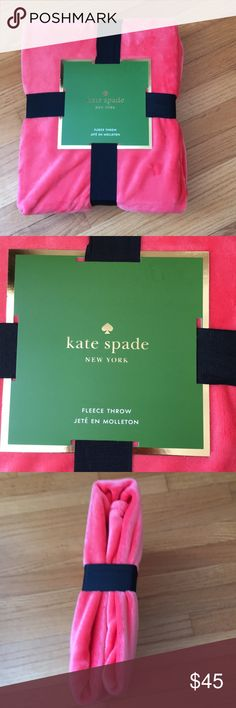 Kate Spade Fleece Throw Super warm and perfect for winter! The color is a peach color. kate spade Other
