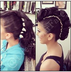 Updo. Mohawk. Details on how to do this Instagram @Crystal Lopez