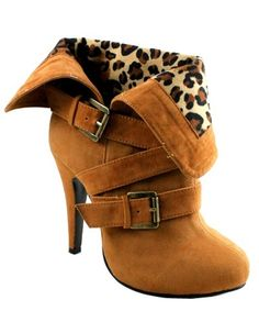 """Brandy"" High Heel Bootie-Camel Unleash the animal in you with these wild booties..K♥"
