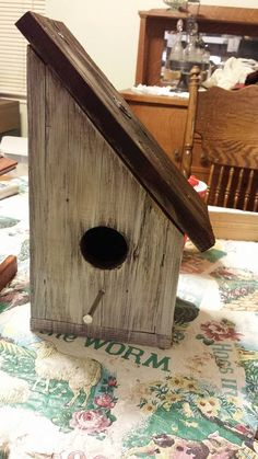Recycled Wood Bird House
