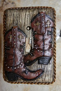 (1), SGL,LIGHT SWITCH, COWBOY BOOTS, COUNTRY DECOR, HUNTING LODGE, WESTERN DECOR #WESTERNDECOR