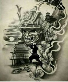 From a simple idea, we create your drawing from A to Z Unique design * unlimited changes * everywhere in the world Samurai Maske Tattoo, Hannya Samurai, Samurai Warrior Tattoo, Ronin Samurai, Bild Tattoos, Body Art Tattoos, Sleeve Tattoos, Samurai Drawing, Samurai Artwork