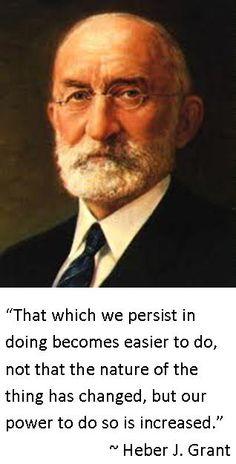 Heber J. Grant...Prophet, seer and revelator...Grace, another wonderful aspect of the Atonement of Jesus Christ!