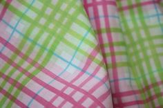 OOP Michael Miller Pink and Green Plaid by the yard by chasegirl, $9.50