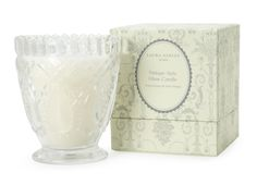 Vintage Style Glass Candle in Gift Box