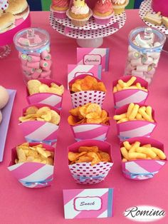 Snack Princess birthday's theme