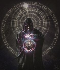 Resources: hooded man - jagged-eye witch in the sphere - S-T-A-R-gazer snake accessory - jaded-reflection ring - amethystmstock light rays - redheadst. Dark Fantasy Art, Fantasy Artwork, Male Witch, Fantasy Wizard, Pathfinder Rpg, Light Rays, Necromancer, Witch Aesthetic, Cute Anime Couples