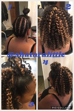 The process of doing a half up and down Crochet Hairstyles