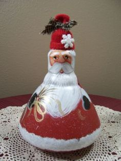 Santa Ornament  (made from light bulb)....<3 One of those spot light lights