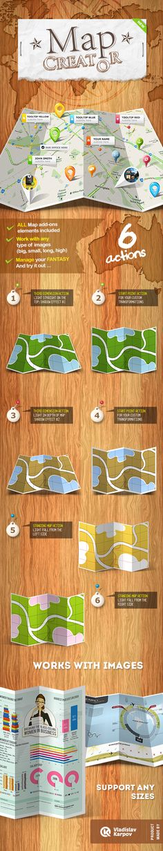 Map Creator  Action — Photoshop ASL #pin #point • Available here → https://graphicriver.net/item/map-creator-action/408305?ref=pxcr