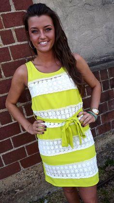 Neon Lime Crochet Dress   The Rage