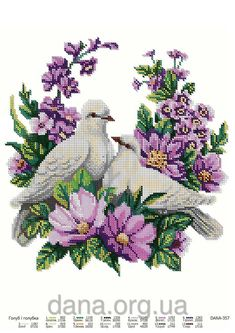 Cross Stitch Cards, Cute Cross Stitch, Cross Stitch Rose, Cross Stitch Animals, Cross Stitch Flowers, Cross Stitching, Cross Stitch Patterns, Folk Art Flowers, Flower Art