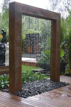 Backyard Landscaping Ideas with Minimum Budget Hinterhof-Landschaftsbau-Ideen mit minimalem Budget Modern Garden Design, Landscape Design, Landscape Architecture, Architecture Design, Landscape Steps, Landscape Timbers, Zen Design, Green Landscape, Contemporary Design