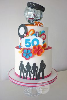 ABBA 50th birthday cake