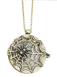 Spider Web Magnifying Glass Pendant Necklace in Silver-Tone and Gold-Tone, 30 Inches Redwood http://www.amazon.com/dp/B01BA2POUC/ref=cm_sw_r_pi_dp_Bcc8wb1F0MNME