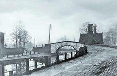 1900 Bridge at Monton Bridgewater Canal, Garden Posts, Salford, Canal Boat, My Heritage, Spring Garden, Post Office, North West, Old Photos