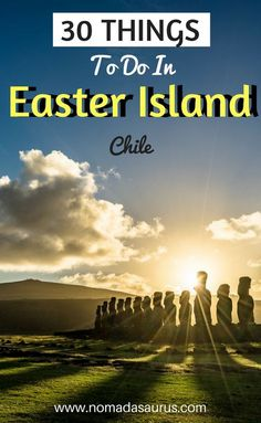Heading to South America? Don't miss Easter Island off your list of places to visit in Chile. It is so stunning and there is so much to see and do. Check out our list of the best things to do in Easter Island. Three days, is not enough! Let our guide to Easter Island help you plan. Travel in South America.