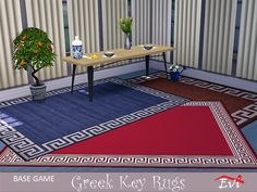 Classical summer rugs decorated with the Greek key Found in TSR Category 'Sims 4 Rug Recolors' Sims Community, Sims Resource, Electronic Art, Greek Key, God Of War, Summer Kids, Sims 4, Tiny House, Outdoor Blanket