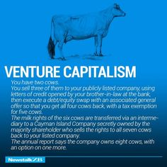 LOL: Humorous Graphics Explain The World Economy With Two Cows - DesignTAXI.com