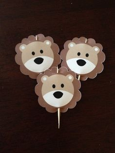 Lion Cupcake Toppers via Etsy