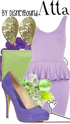 Disney fashion - Princess Atta from A bug's life Disney Character Outfits, Disney Bound Outfits, Punk Outfits, Movie Outfits, Disney Inspired Fashion, Character Inspired Outfits, Disney Fashion, Disney Dress Up, Disney Clothes