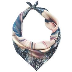 Leanne Claxton Jasmine Luxury Neck Scarf (6,960 INR) ❤ liked on Polyvore featuring accessories, scarves, multicolour, multi colored scarves, print scarves, silk scarves, colorful scarves and silk shawl