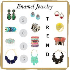 """""""Enamel Jewelry"""" by vickyb74 on Polyvore"""