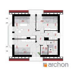 Dom w rododendronach 6 (W) Love Life, Villas, Plane, House Plans, Floor Plans, Farmhouse, House Design, How To Plan, Modern