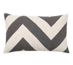 Chevron Crewel Embroidered Lumbar Pillow Cover | Pottery Barn