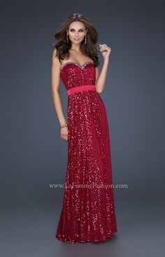 La Femme 17059 Dress - 2013  And now in red