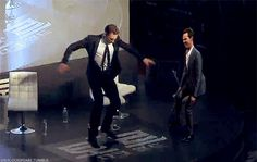 Because Tom Hiddleston...and Benedict Cumberbatch..that's why. >>> omg what nerds!! What is Ben even doing over there?